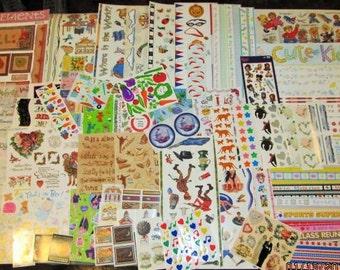 75 Sticker Sheets plus Huge Lot Assortment Card Making Scrapbooking Scrap Booking Vintage New Mixed