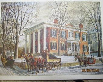 Sale was 11.79~Vintage The Georgian Lancaster Ohio 1983 Kinley Shogren Fairfield Heritage  Note Cards Envelopes New Old Stock Paper Ephemera