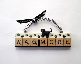 Dog Wag More Scrabble Tile Ornament