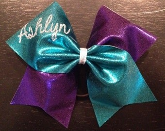 Personalized Name Tick Tock Cheer Bow