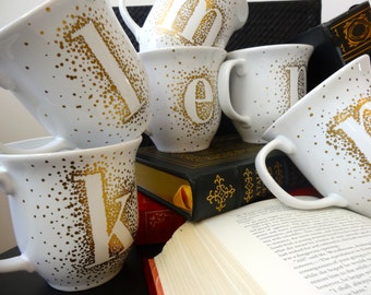 Gold Monogram Mugs!!
