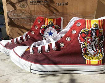 Harry Potter Gryffindor Custom Converse All Stars