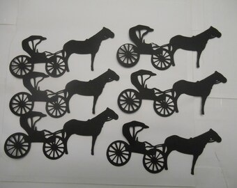 Horse and Buggy silhouette die cuts