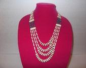 Four Strand Bone Necklace, Native made