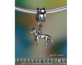 Belgian Malinois German Shepherd Charm or Bracelet Sterling Silver 925