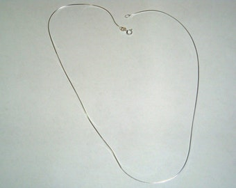 Sleek 925 Sterling Silver Italian Snake Chain  18' , Wholesale Price