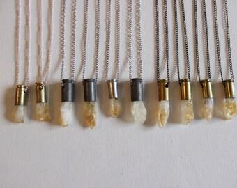 Citrine Bullet Necklace