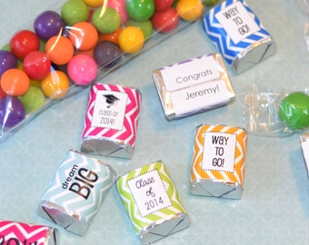 90 Personalized Graduation HERSHEY NUGGET Labels Candy Bar Wrapper Favor - 2017