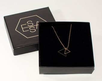 Triangle necklace | Gold plated & Silver plated