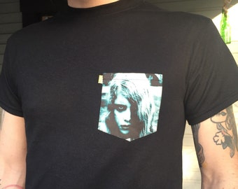 Night of the living dead pocket tee