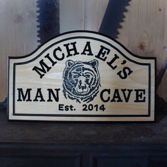Man Cave Expo Collinsville Il : Hand carved large wood custom personalized bar sign man cave