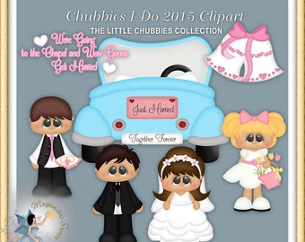 Wedding Clipart, Baby and Toddler, Chubbies I do 2015,