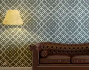 Large Moroccan Wall Stencil Margaret for DIY Decor Wallpaper Look