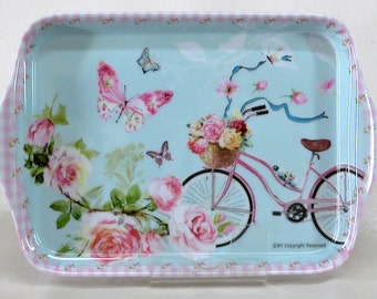 NEW Small Melamine Tray with Bicycle Design