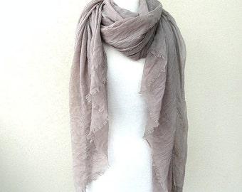 Mauve Hemp organic wrap cloth, bridal shawl, gift for her, sheer organic scarf, pastel hemp wrap, organic wrap READY TO SHIP