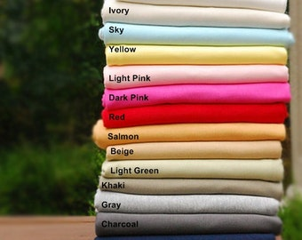 Interlock Knit Fabric In 16 Solid Colors By The Yard