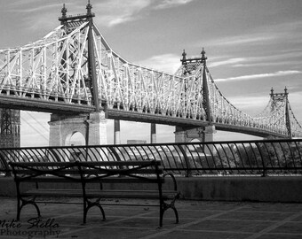 Queensboro Bridge, NY City,  Black and White, 8 x10 Inch Print