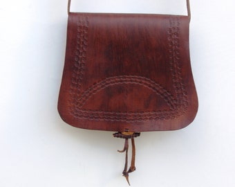 SALE : 30% Off  63 usd -Leather Cross Body Bag, Bohemian Leather Bag,Leather Tote,Leather Purse,Leather Handbag,Handmade Leather Bag