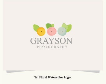 Watercolor Floral Logo - Pre made logo design