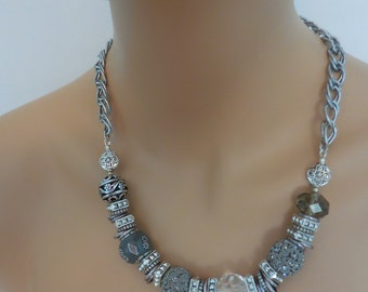 Beaded & Chain Necklace
