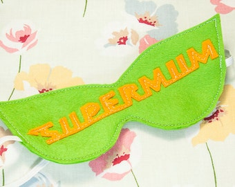 sleep mask lime green Supermum