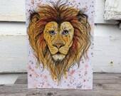 "Greeting Card - ""Lion"""