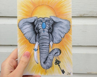 "Greeting Card - ""Elephant"""