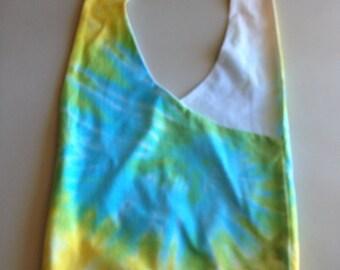 Handmade Upcycled Tie Dye Hobo Shoulder Purse