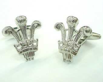 Silver Royal Thorton Crown Cufflinks Cuff Links