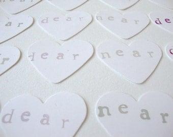 Heart Sticker: Envelope Seals Hearts Near & Dear