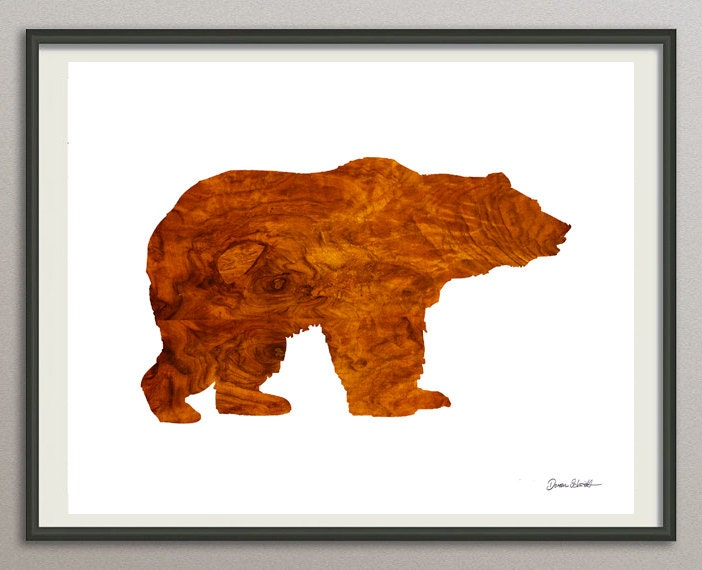 Bear Wall Art bear art print poster bear watercolor abstract bear bear