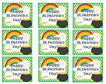 Printable St Patrick's Day Tags - Happy St Patrick's Day - { Instant Download }