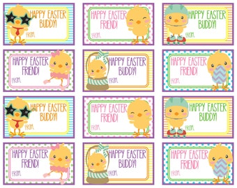 Happy easter gift tags crafthubs popular items for printable easter on etsy negle Choice Image