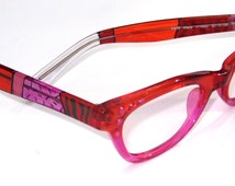 High Quality Multi-Color RONEX eyeglasses frame. Model 4660 Pink stones. Roni Dori Special Collection