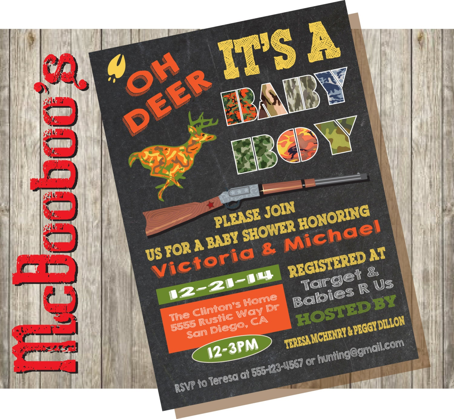 oh deer camo baby shower invitation by mcbooboos on etsy