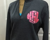 1/4 Zip Personalized Applique Monogram (Vera Bradley Fabric)