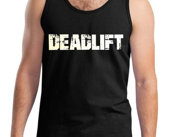 New Men's Deadlift Black Tank Top All size XS-3XL