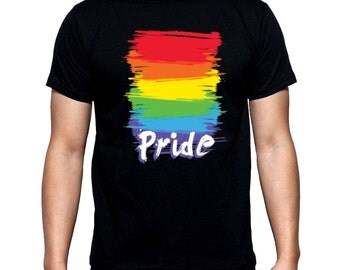 New Rainbow Pride Gay Equal Rights Men's T Shirt all size XS-3XL