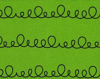 Daiwabo Junko Matsuda fat quarter -- Modern & Bright Collection--Loopy in Green