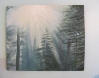 Through the Trees Original art Painting