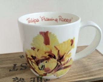 Bone china Parrot Tulip mug