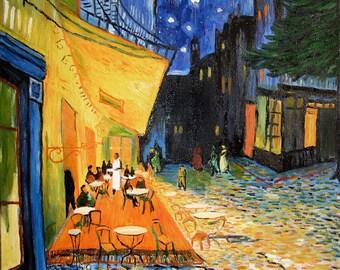 A2/A3 Digital Canvas Prints Cafe Terrace Famous Painting