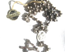 All Sterling Rosary Catamore Silver Original Paper Creation Tag Christ Carrying His Cross Our Sorrowful Mother Catholic Prayer