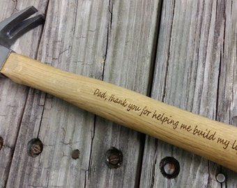 Engraved Wooden Handled Hammer - Personalized Hammer - Father's Day Gift - Gift for Dad - Groomsmen Gift