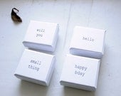 FREE SHIPPING Tiny White Ring Proposal Miniature Stylish Paper Cardboard Box Will you Happy birthday Hello Small thing Eco-friendly