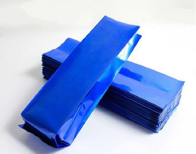 50pcs de sacs soufflets papier couleur pour grains de caf - Sac de cafe en grain ...