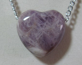 Amethyst Heart Chain Necklace #2