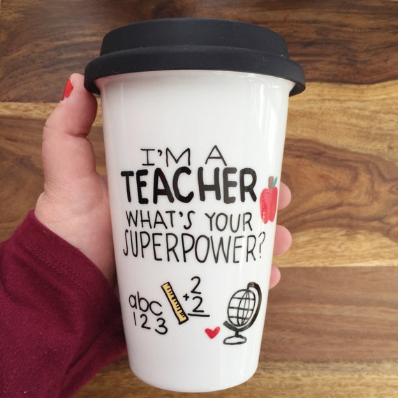 I M A Teacher What S Your Superpower Travel Mug