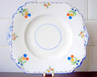 Vintage Old Duchess Art Nouveau Cake Plate