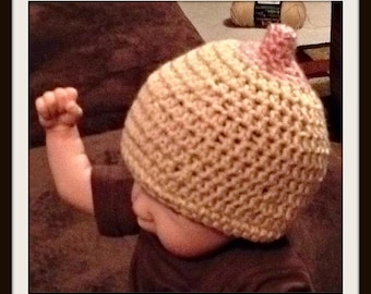 Crochet boob hat for breast feeding
